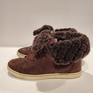 UGG AUSTRALIA SN 1013908 CROFT LUXE QUILT FUR LEAT